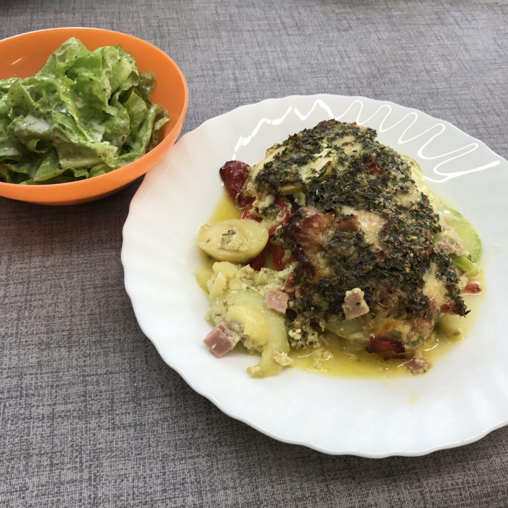 Kartoffelauflauf Zucchini  Paprika