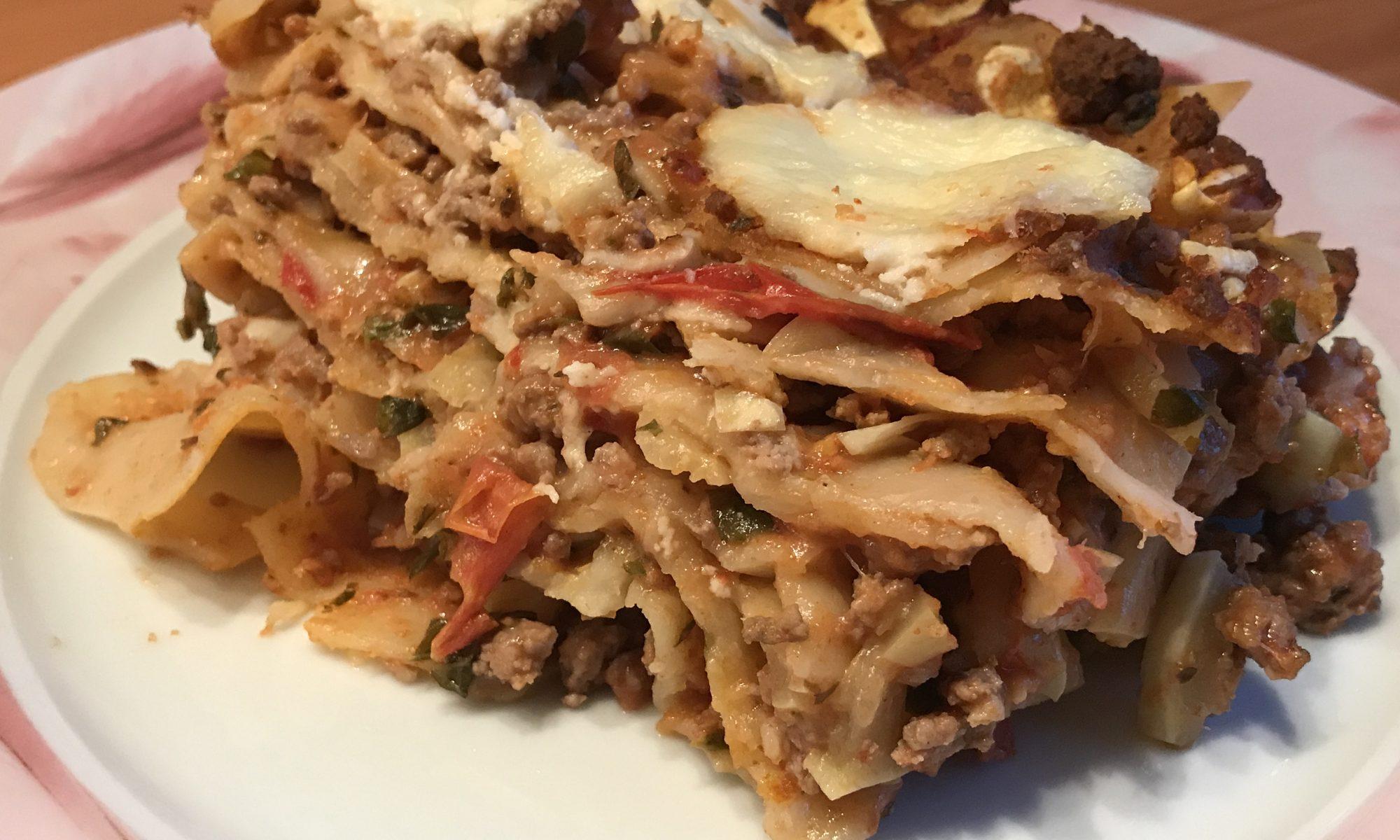 Tomaten Zucchini Lasagne