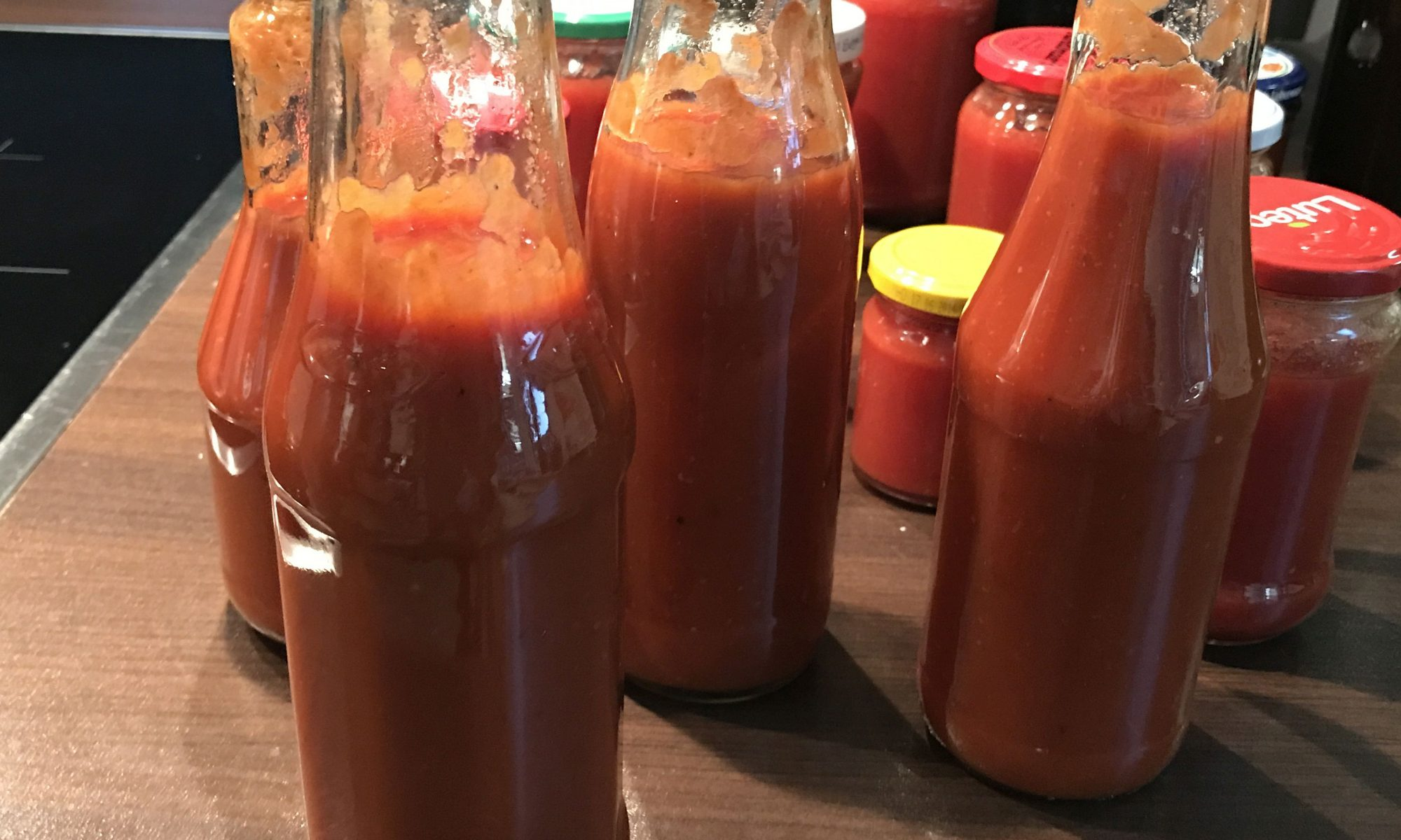 tomatenketchup selber herstellen achims garten zum essen. Black Bedroom Furniture Sets. Home Design Ideas